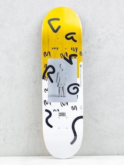 Deck Girl Skateboard Carroll Cantemporary (yellow/white)