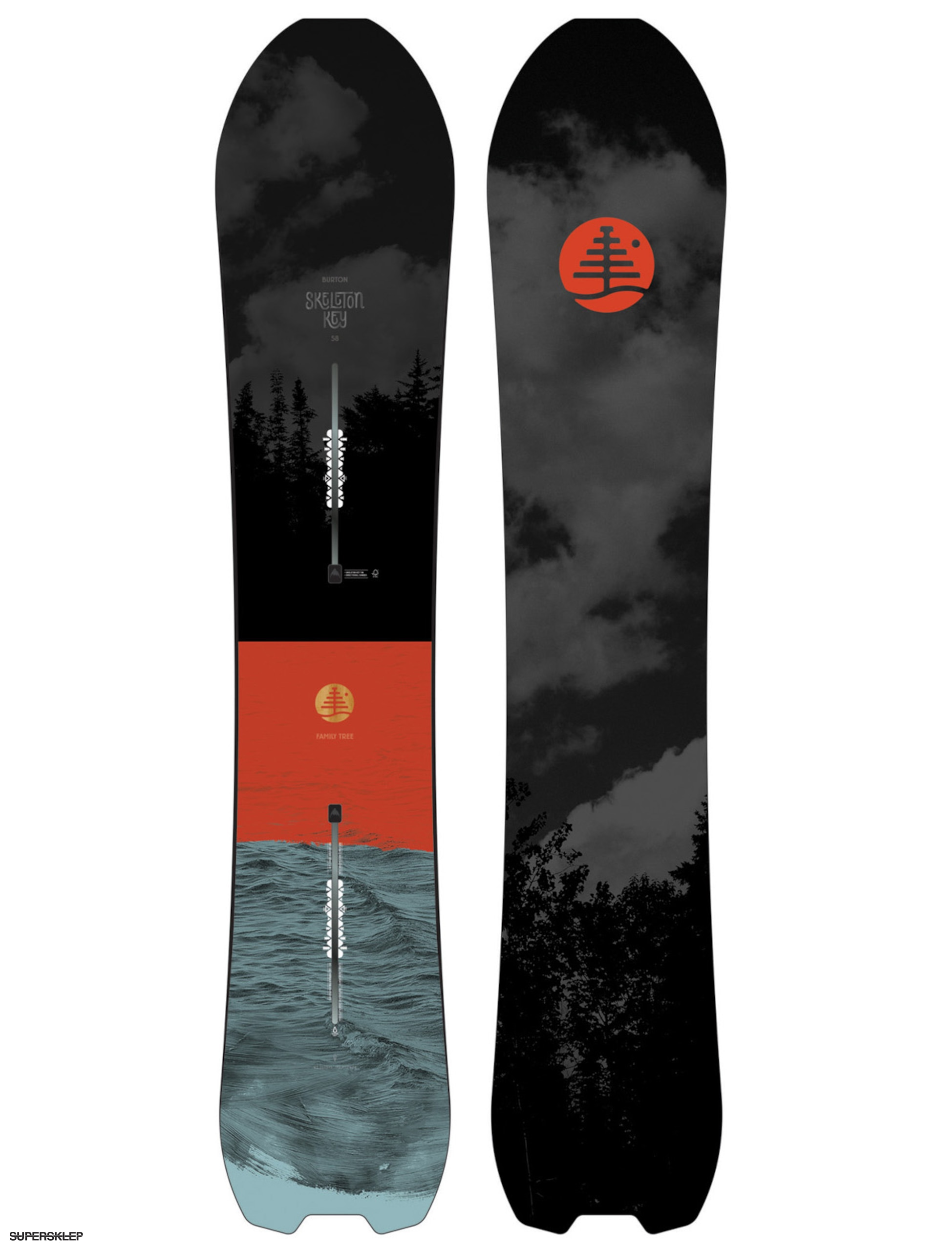 Deska snowboardowa Burton Family Tree Skeleton Key (multi)