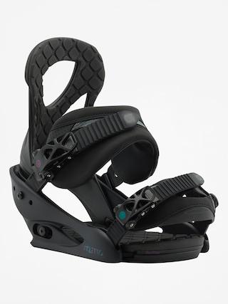 Wiązania snowboardowe Burton Stiletto Wmn (black matte)