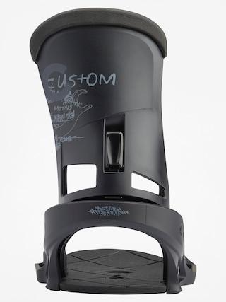 Wiązania snowboardowe Burton Custom Est (black matte)