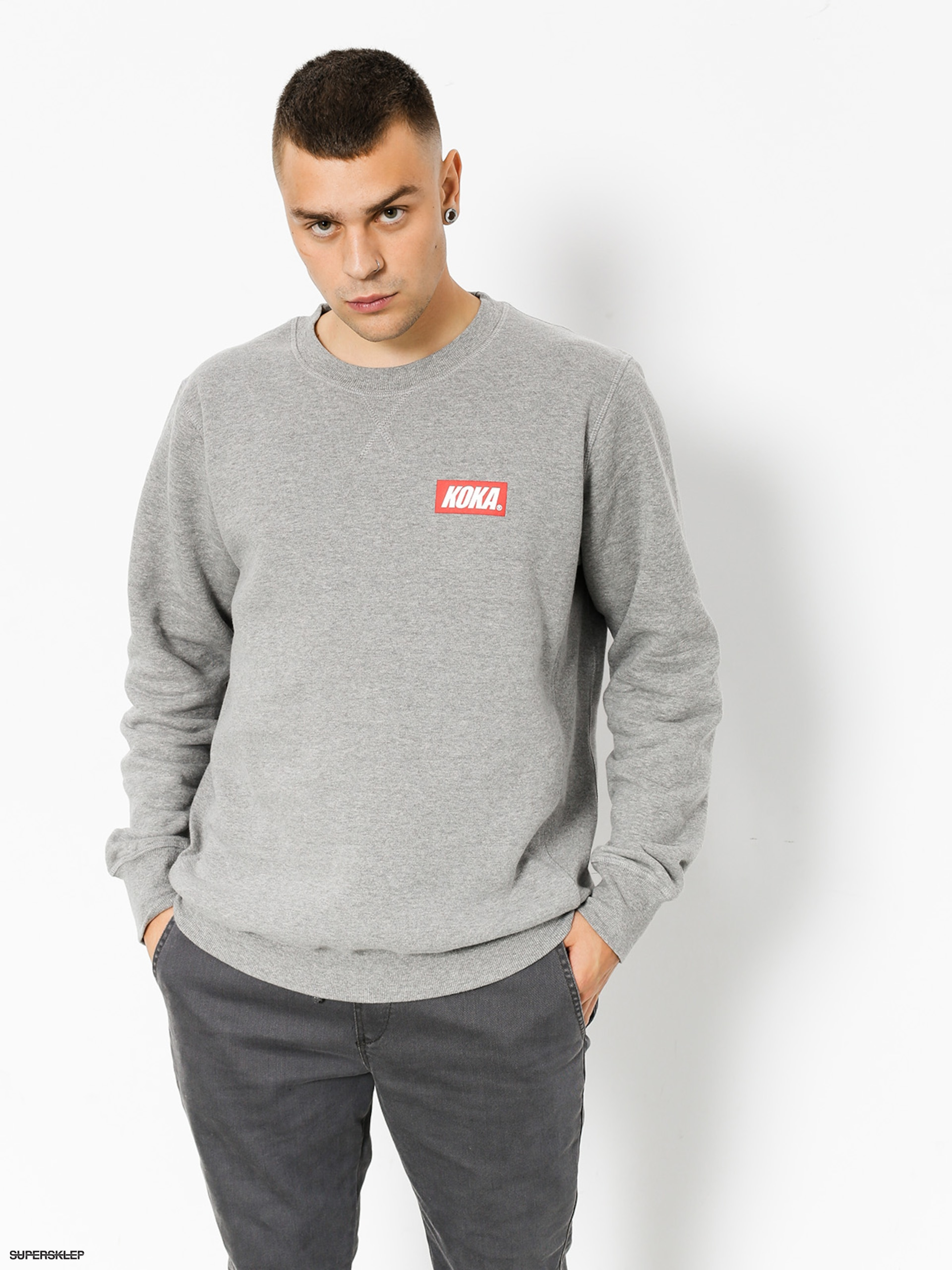 Bluza Koka Small Boxlogo (grey)