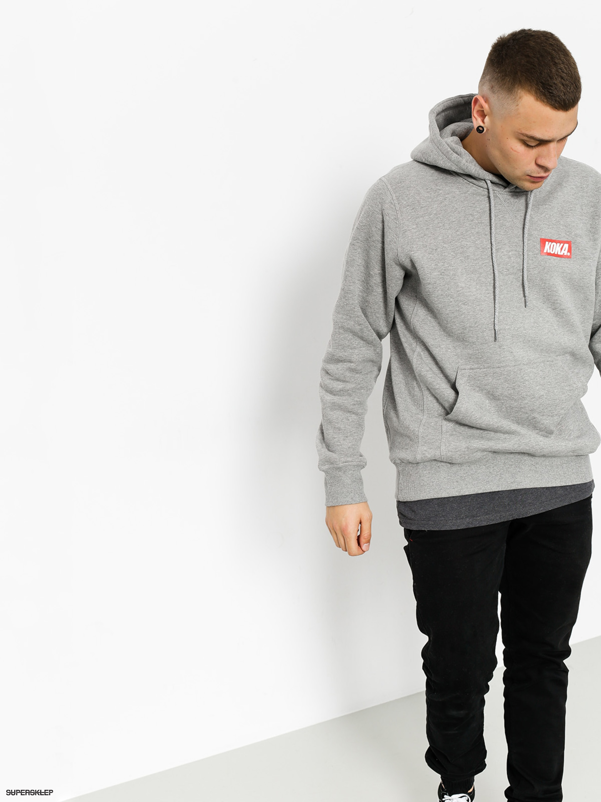 Bluza z kapturem Koka Small Boxlogo HD (grey)