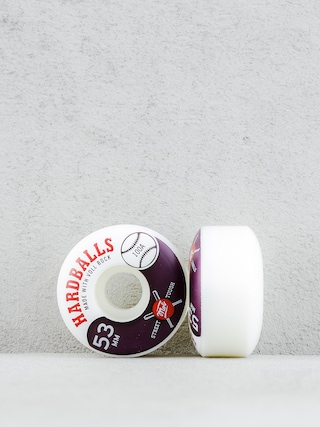 Kółka Mob Skateboards Hardballs (white/maroon)
