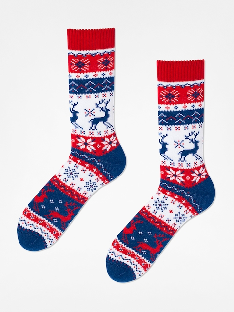 Skarpetki Many Mornings Warm Rudolph (navy/red/white)