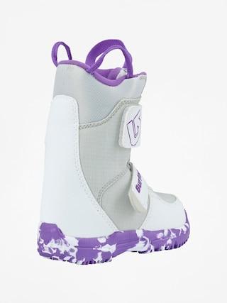 Buty snowboardowe Burton Mini Grom (white/purple)