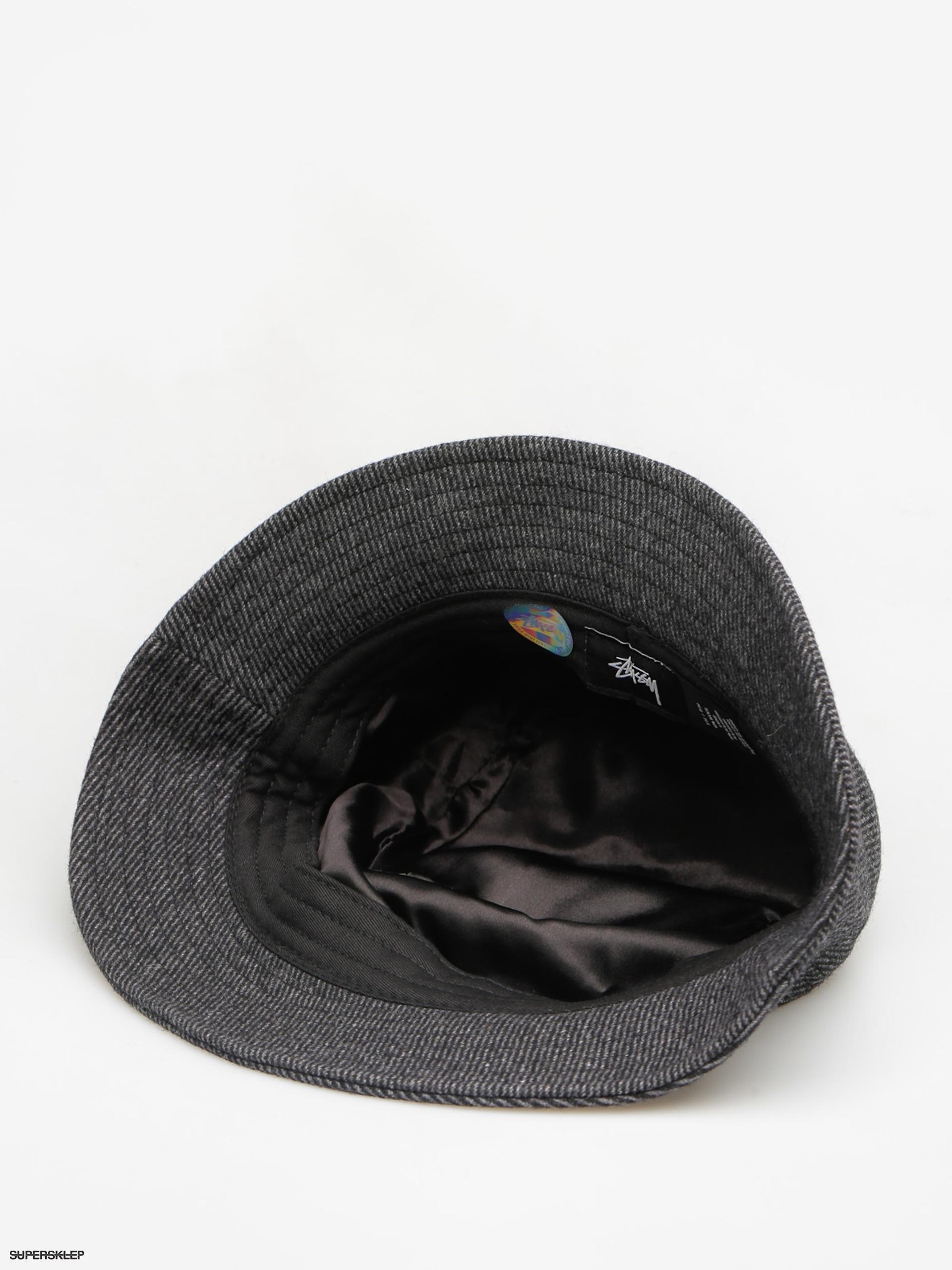 108e648602b Kapelusz Stussy Textured Wool Bucket Hat (black)