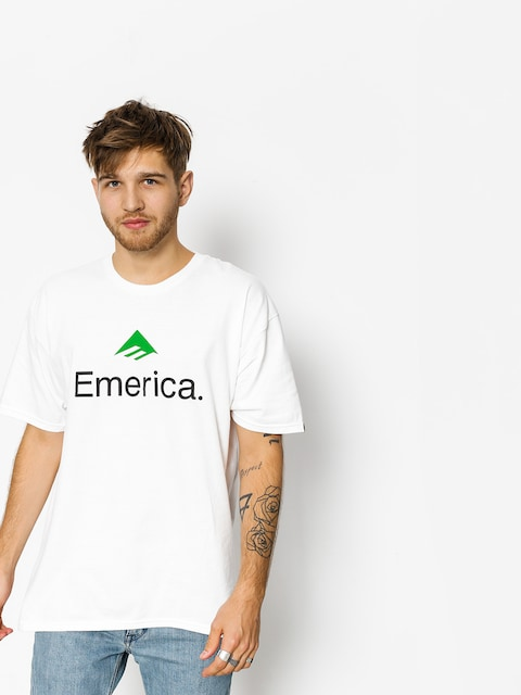 T-shirt Emerica Emerica Skateboard Logo (white/green)