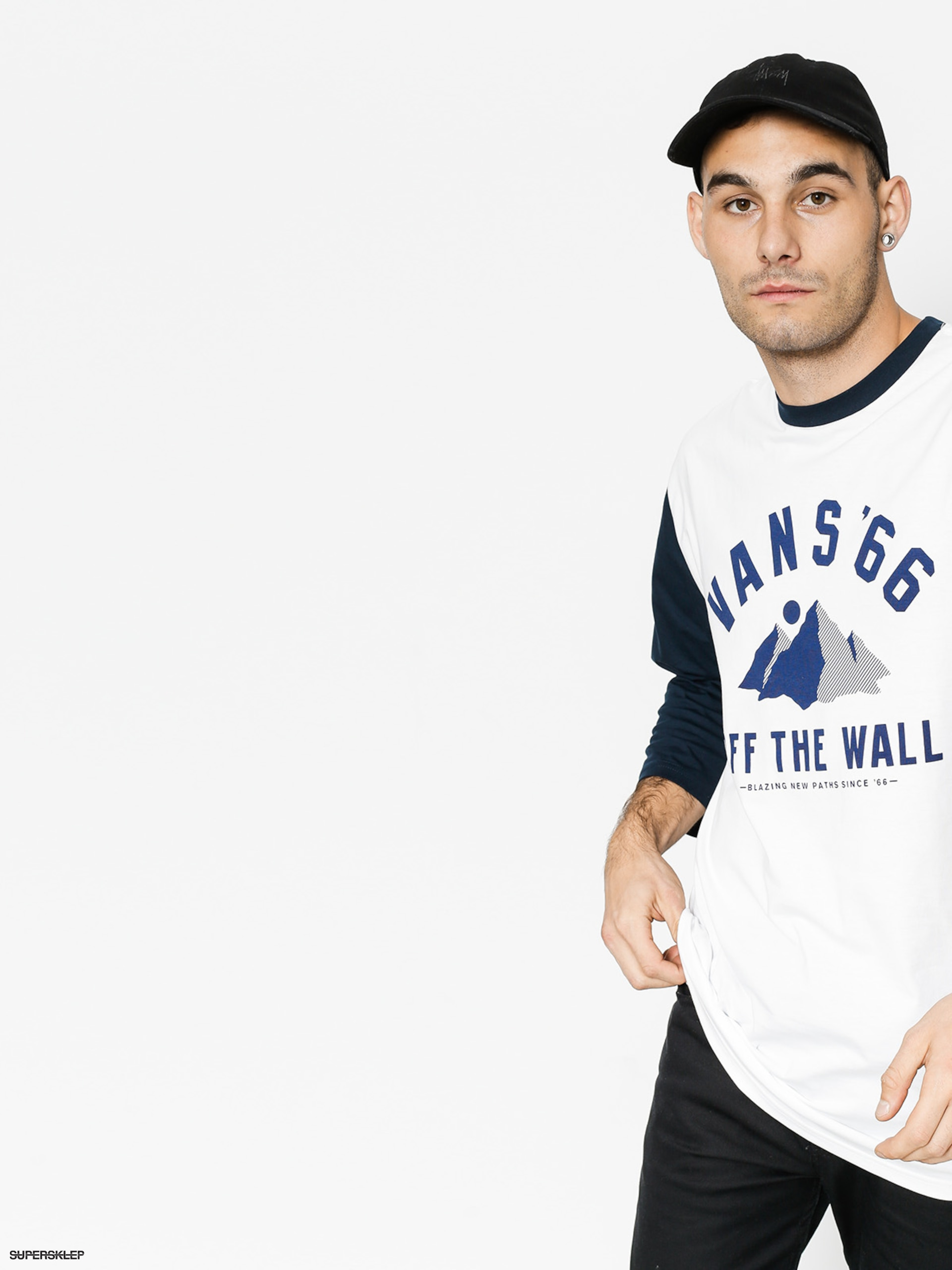 Longsleeve Vans Blazing Set In (white/navy)
