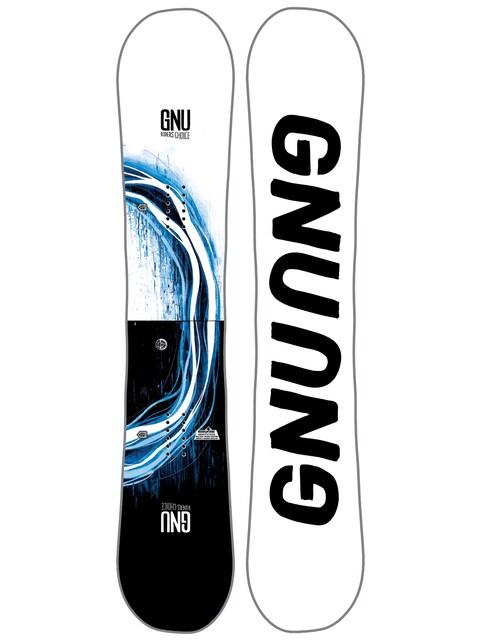 Deska snowboardowa Gnu Rider'S Choice C2X Asym (white)
