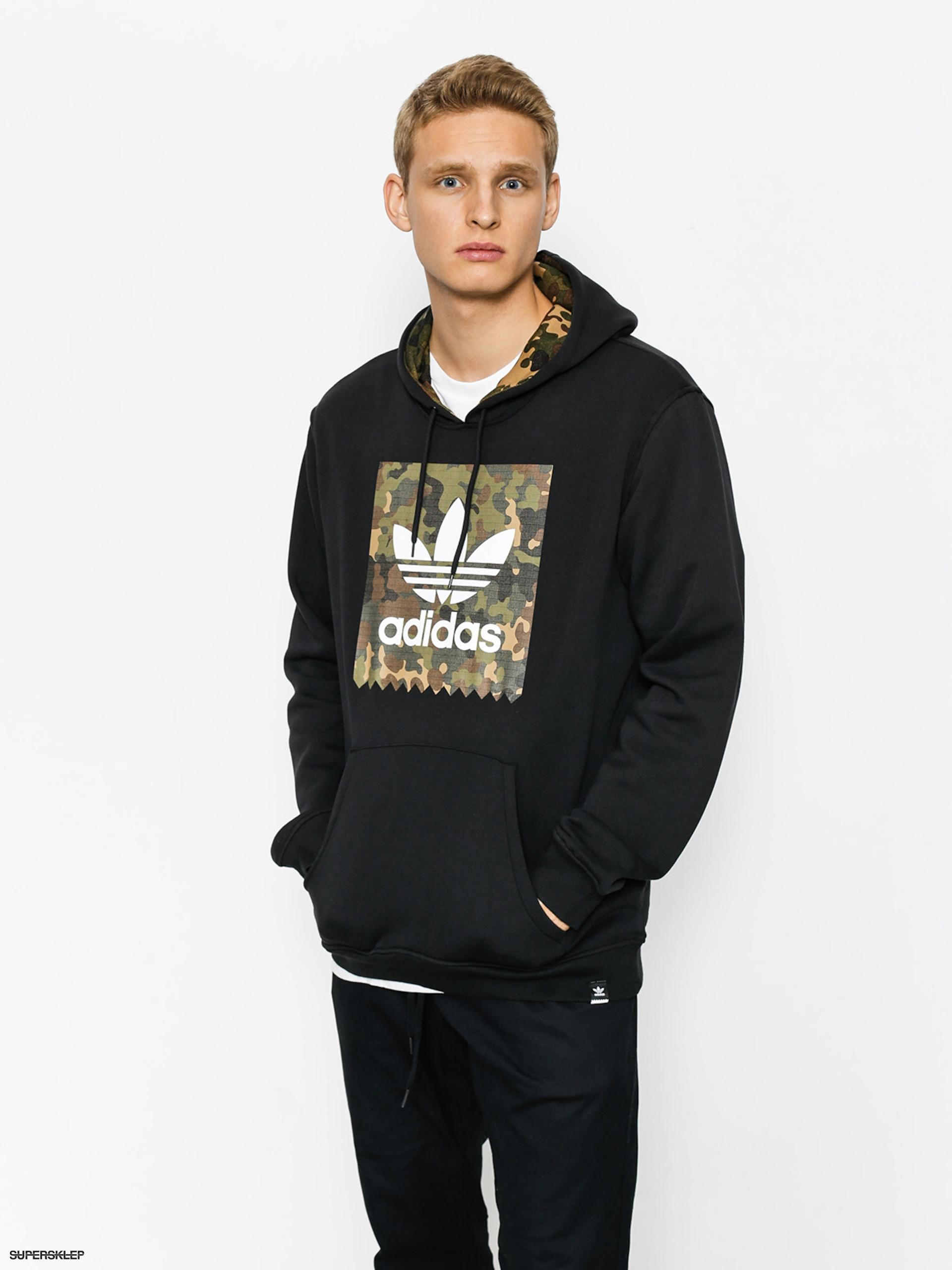 sklep z wyprzedażami klasyczny styl Trampki 2018 Bluza z kapturem adidas Bb Camo HD (black/camo print)