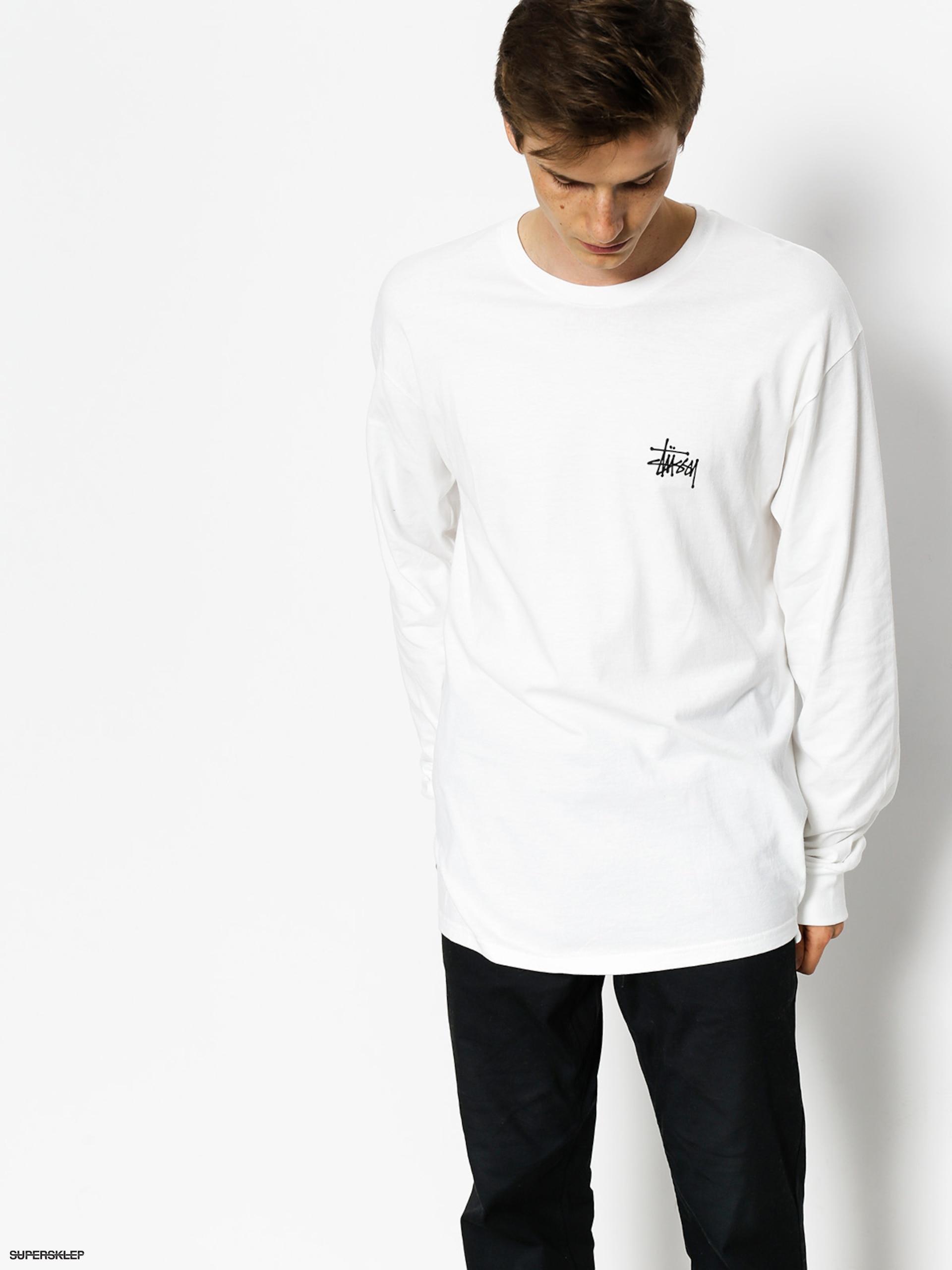 Longsleeve Stussy Basic Stussy (white)