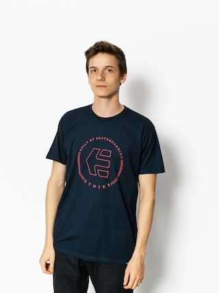 T-shirt Etnies Icon Ringer (navy/red)