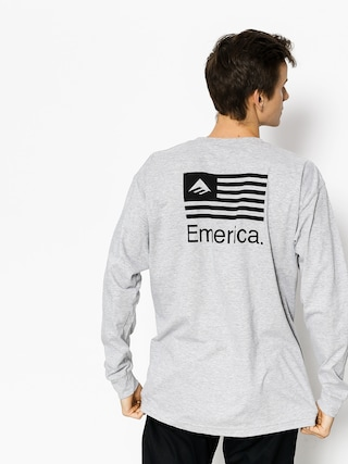 Longsleeve Emerica Pure Flag (grey/heather)