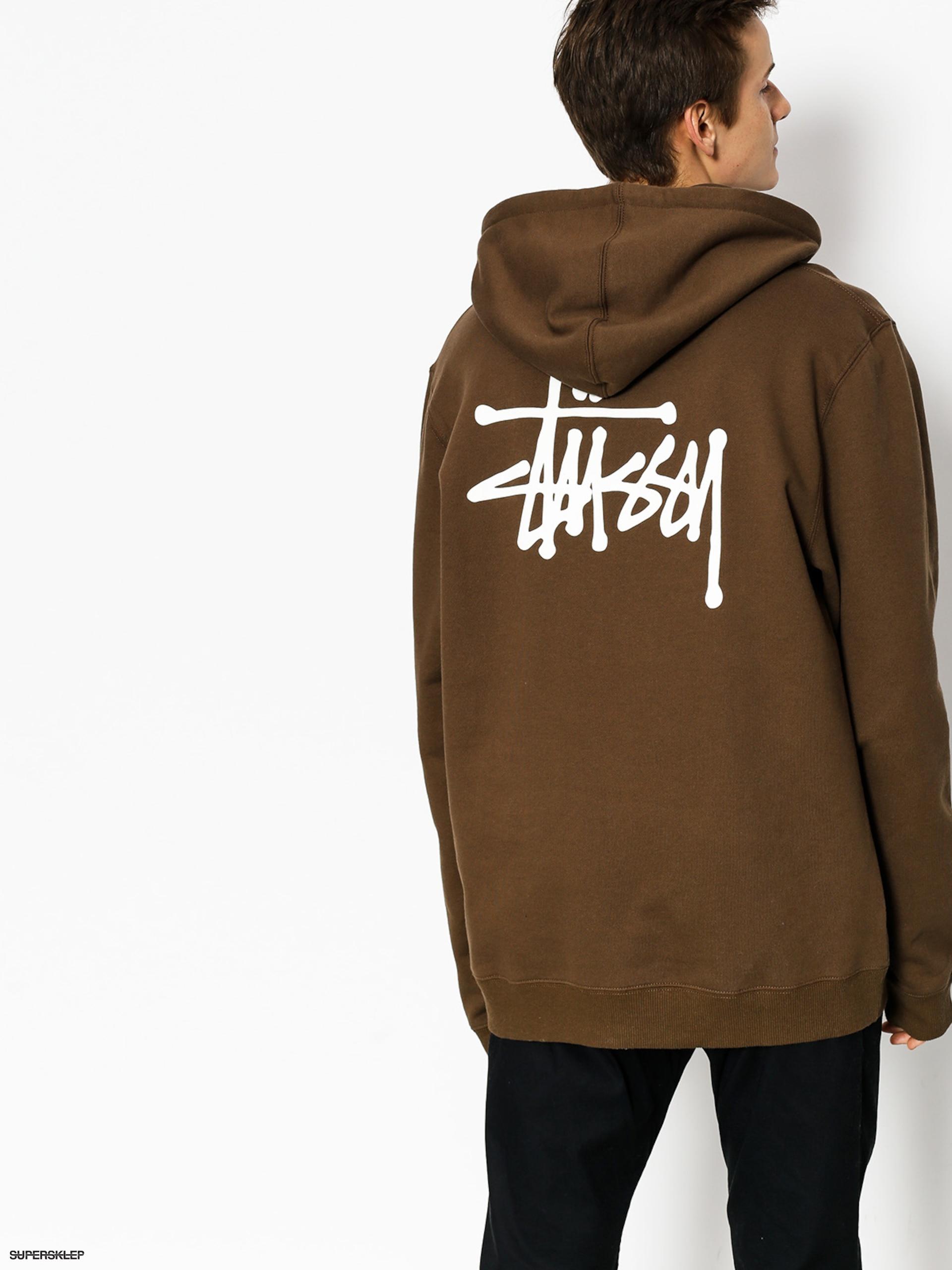 Bluza z kapturem Stussy Basic Stussy HD (chocolate)