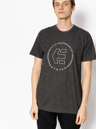T-shirt Etnies Icon Ringer (charcoal/heather)