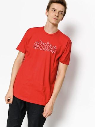 T-shirt Etnies Mod Stencil (red/blue)