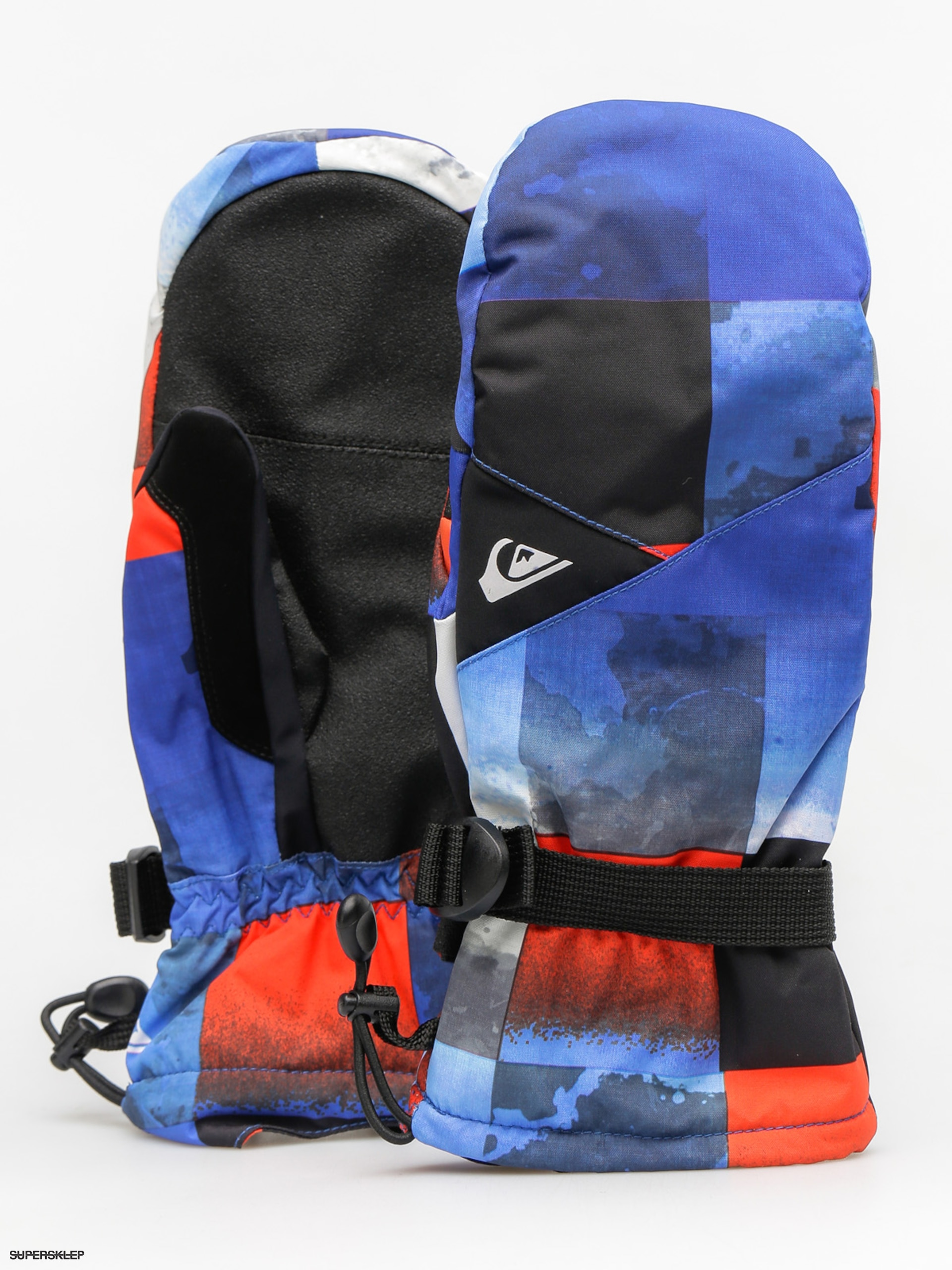Rękawice Quiksilver Mission Mitt (blue red icey check)