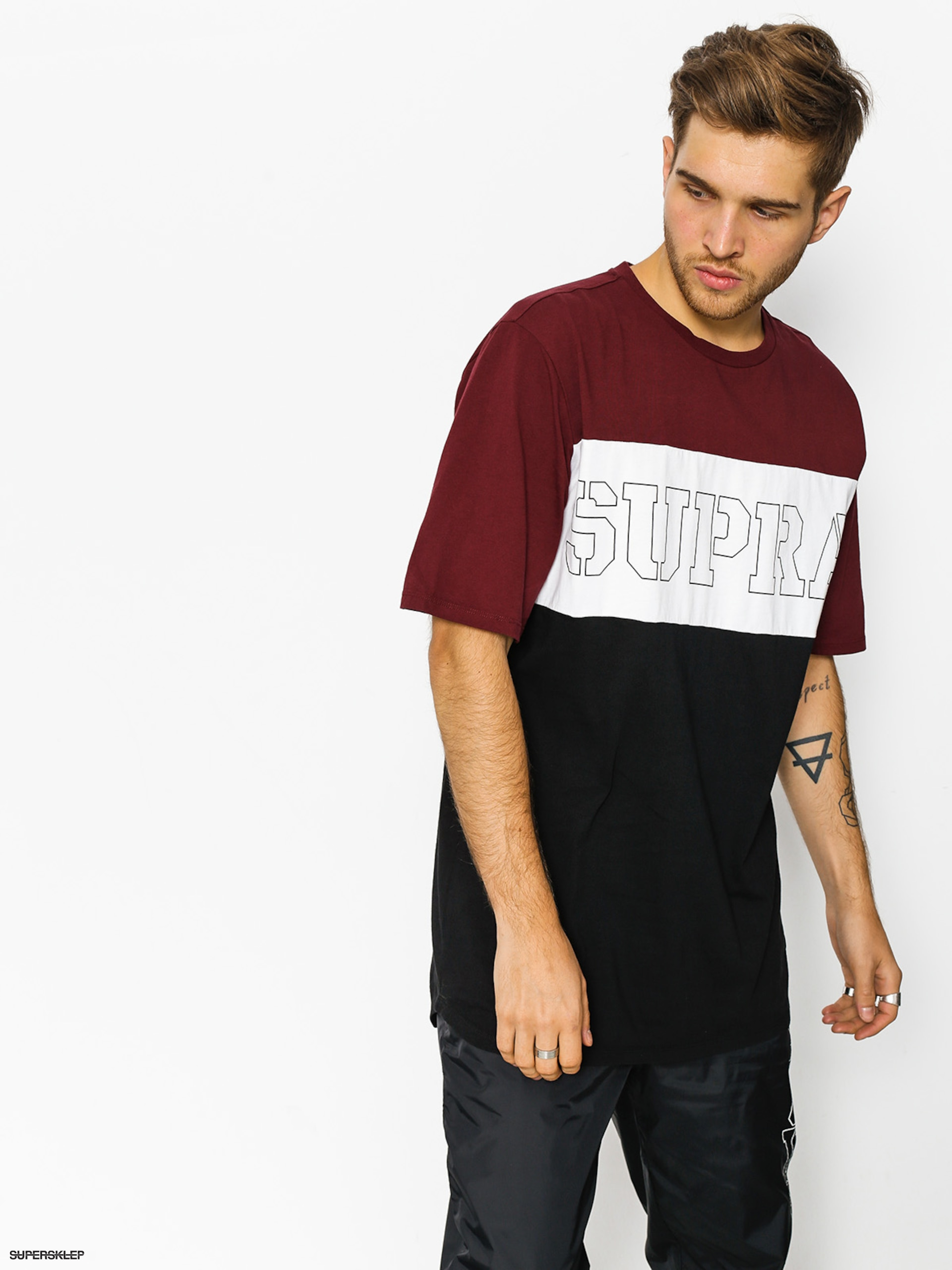 T-shirt Supra Tri Block (burgundy)