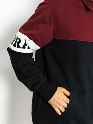Bluza Supra Spar Mock Half Zip (burgundy)