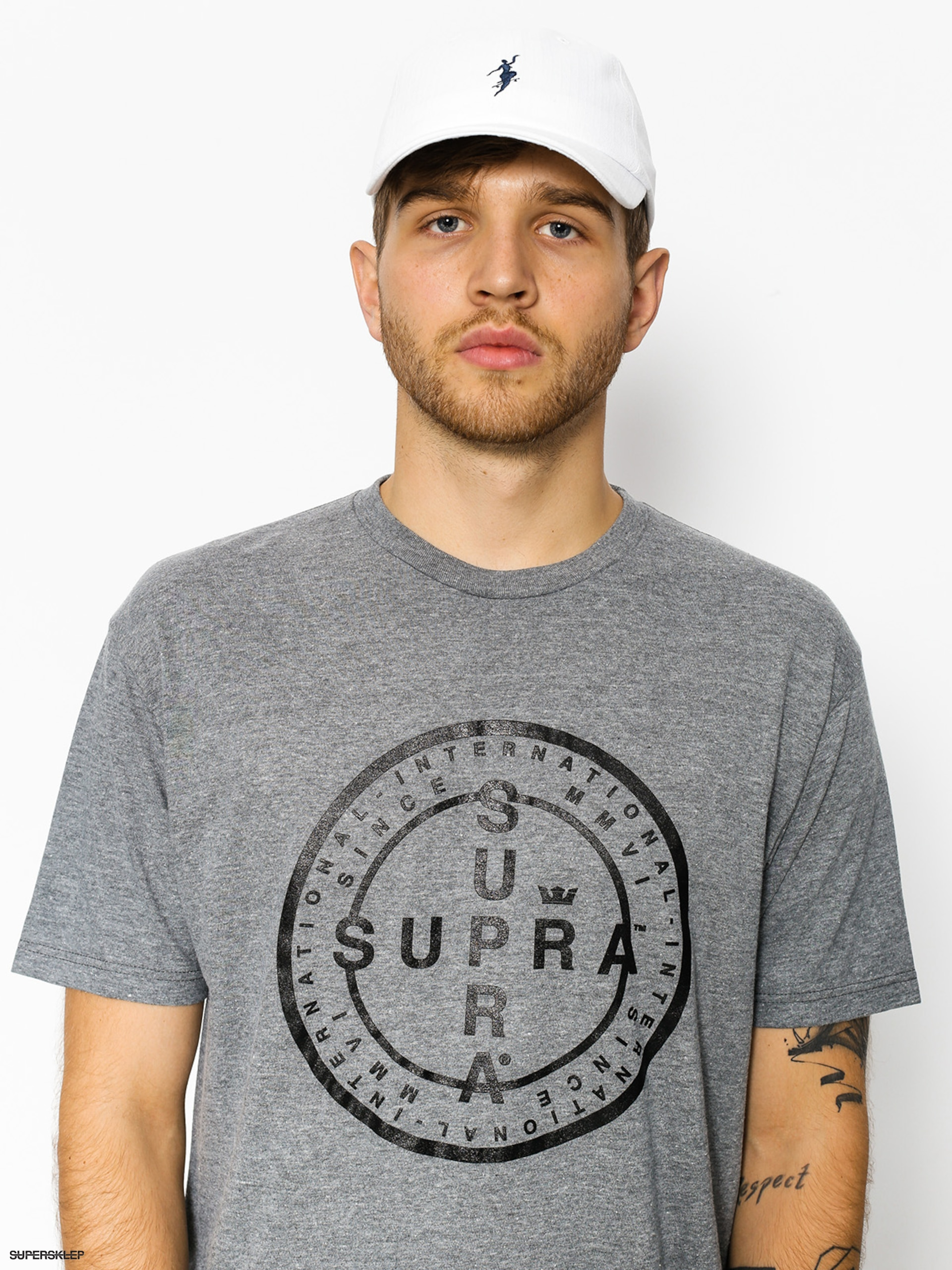T-shirt Supra Cross Seal (grey heather)