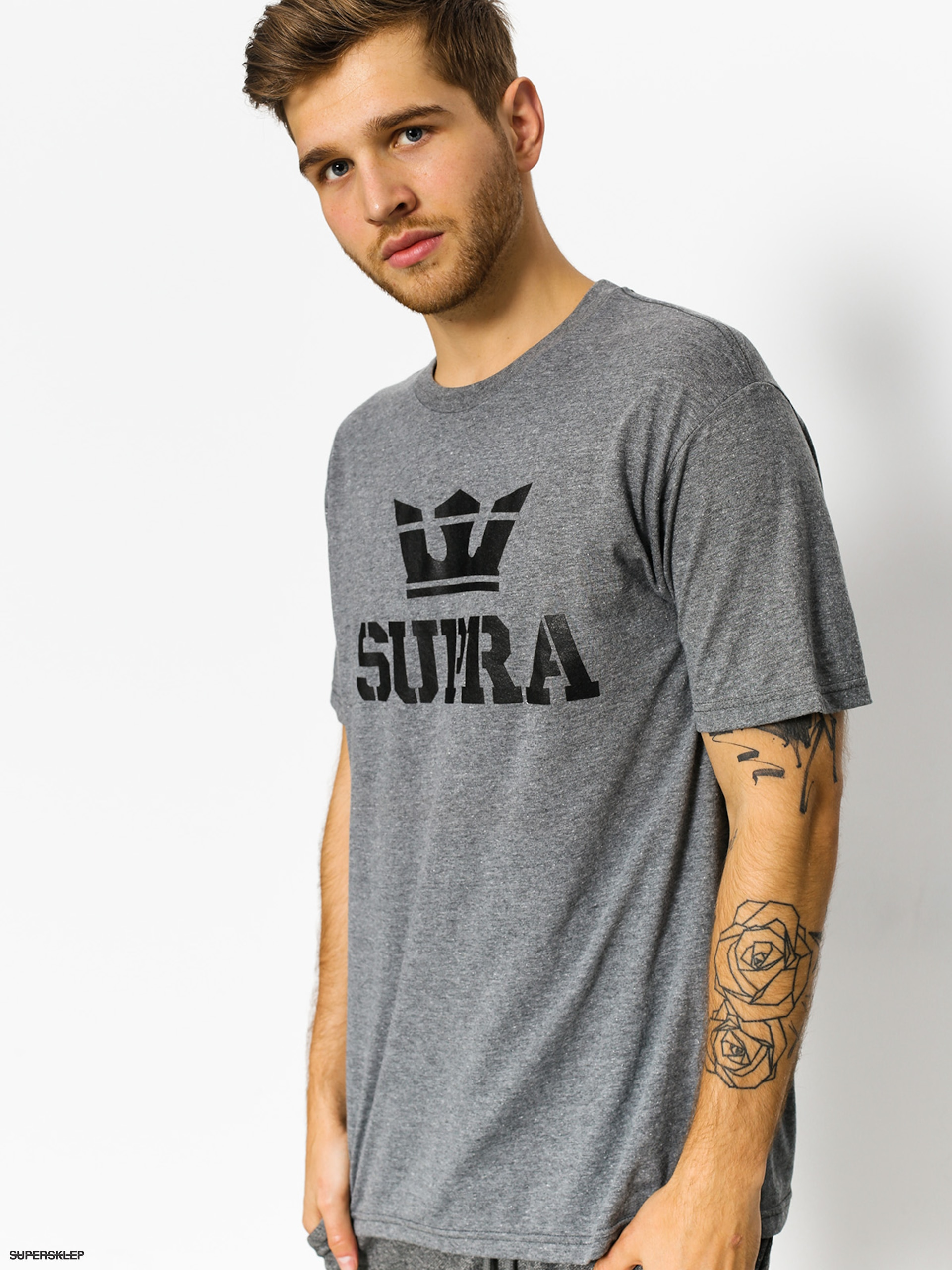 T-shirt Supra Above (grey heather/reflective)
