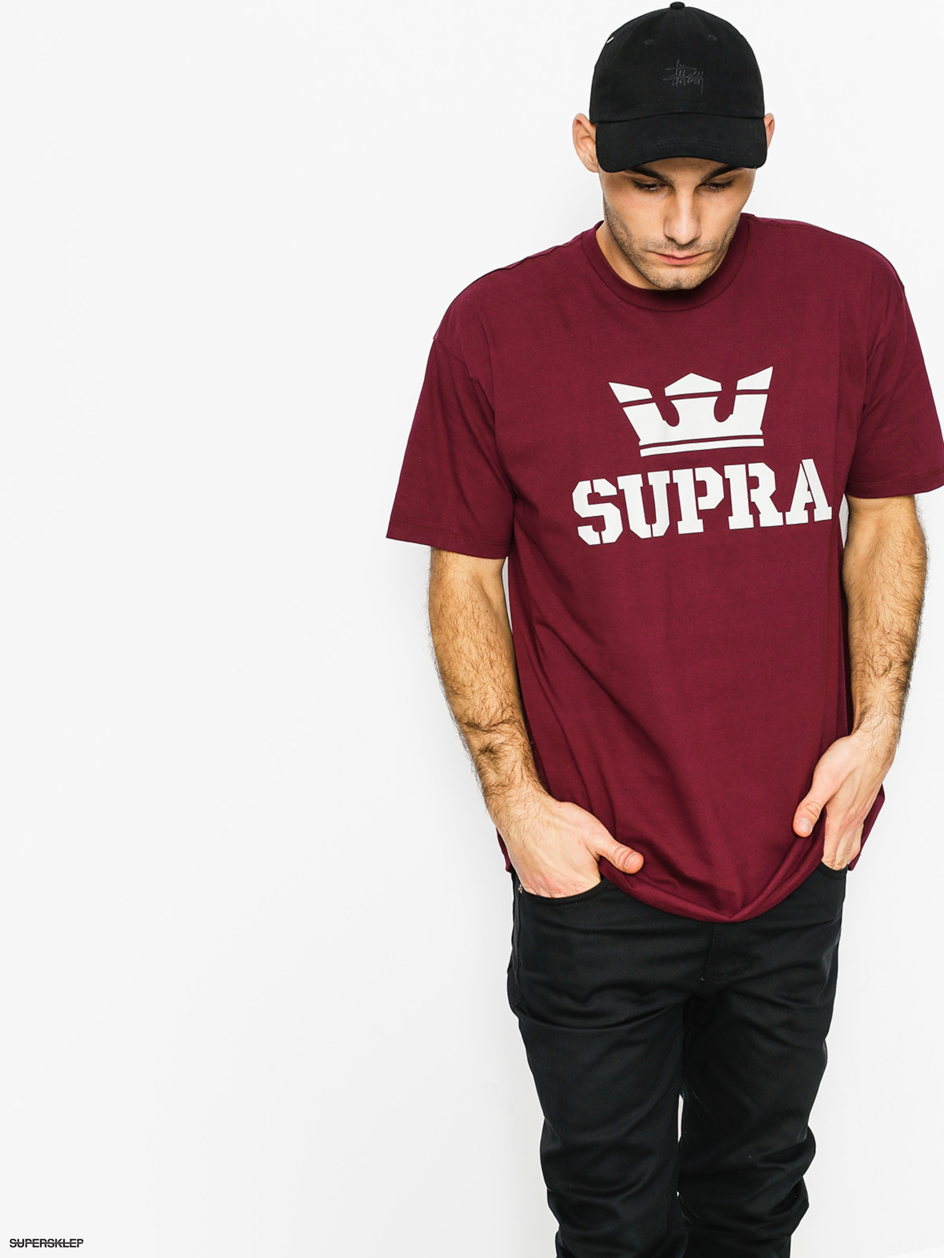 T-shirt Supra Above (burgundy/grey)