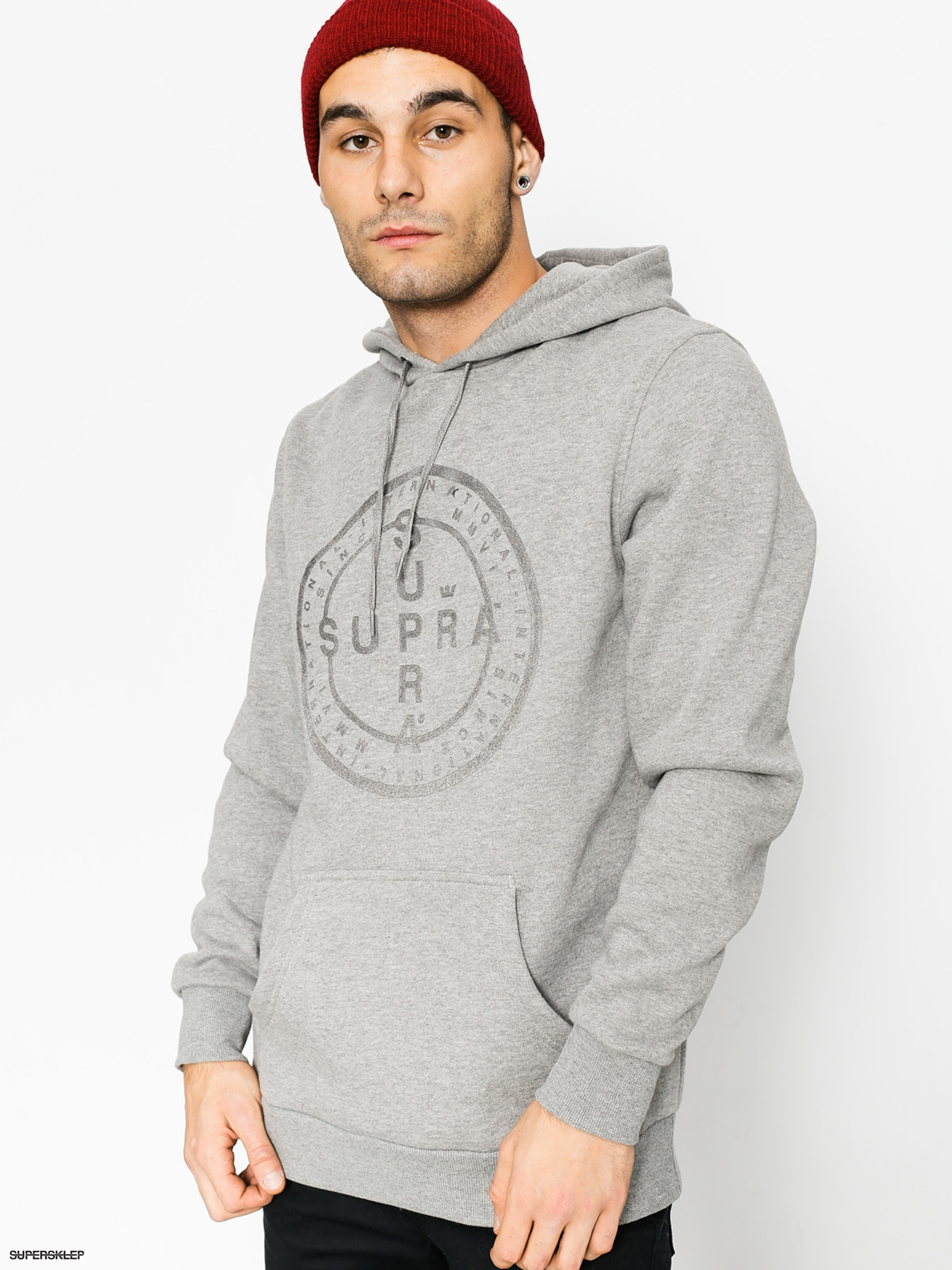 Bluza z kapturem Supra Cross Seal HD (grey heather)