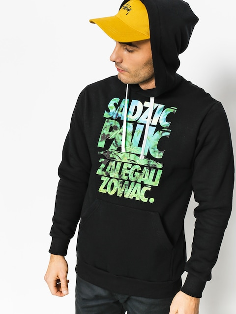 Bluza z kapturem El Polako Sadzić HD (black)
