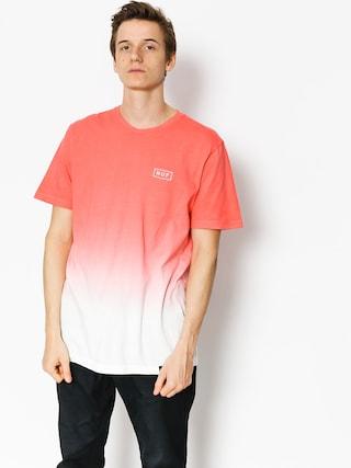 T-shirt HUF Gradient Dip Dye Bar (coral)