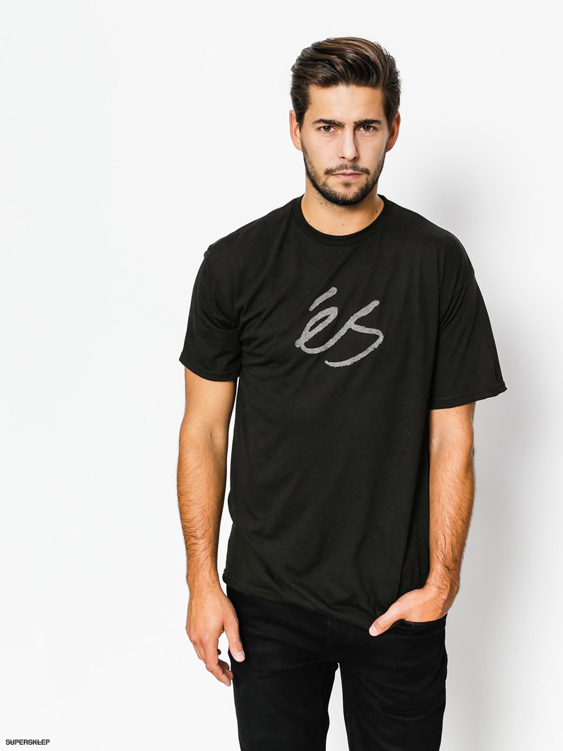 80e82f04a47 T-shirt Es Mid Script Tech (black)
