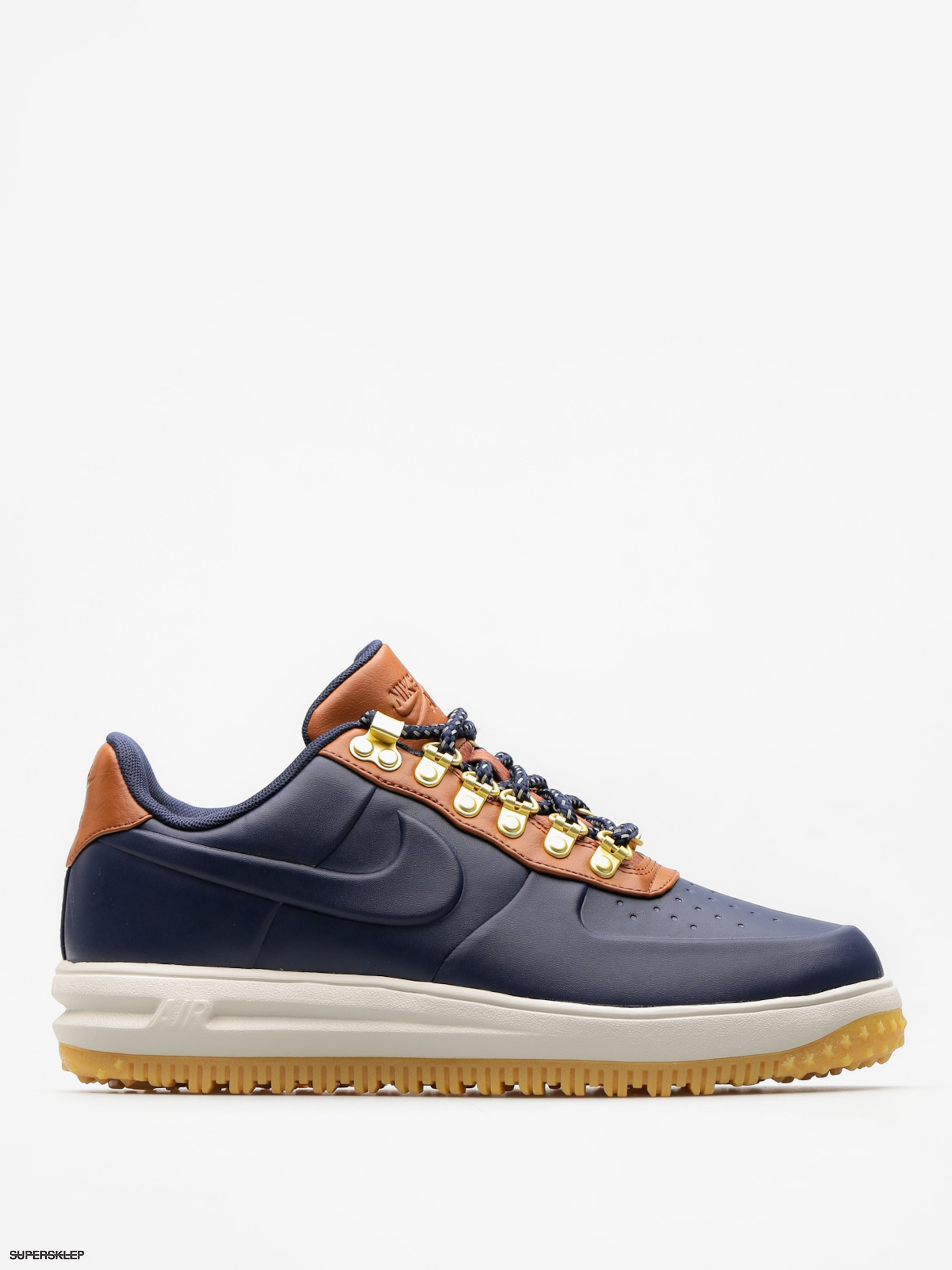 Buty Nike Lunar Force 1 Low Duckboot (obsidian/obsidian saddle brown)