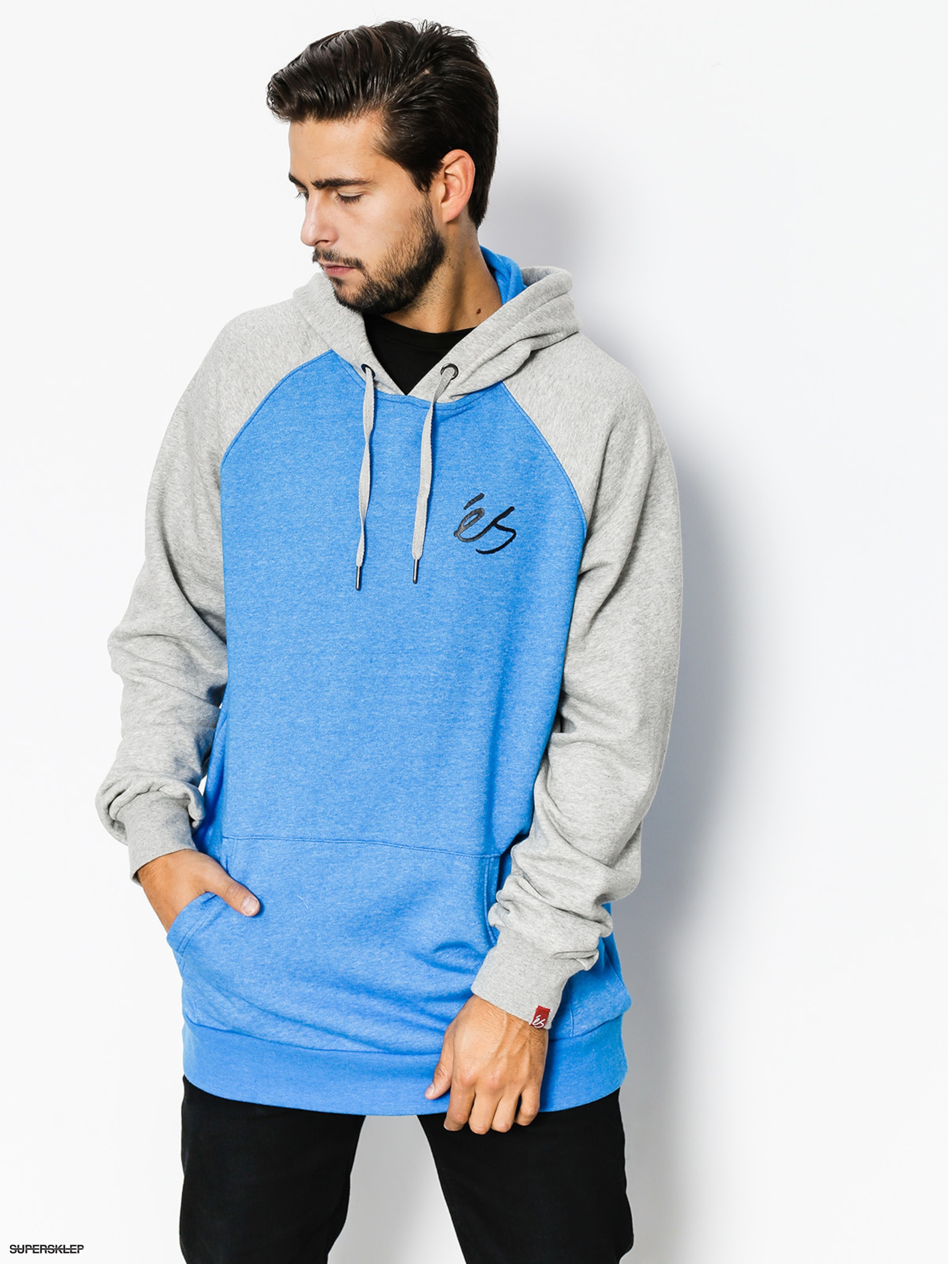 Bluza z kapturem Es Script HD (blue/heather)