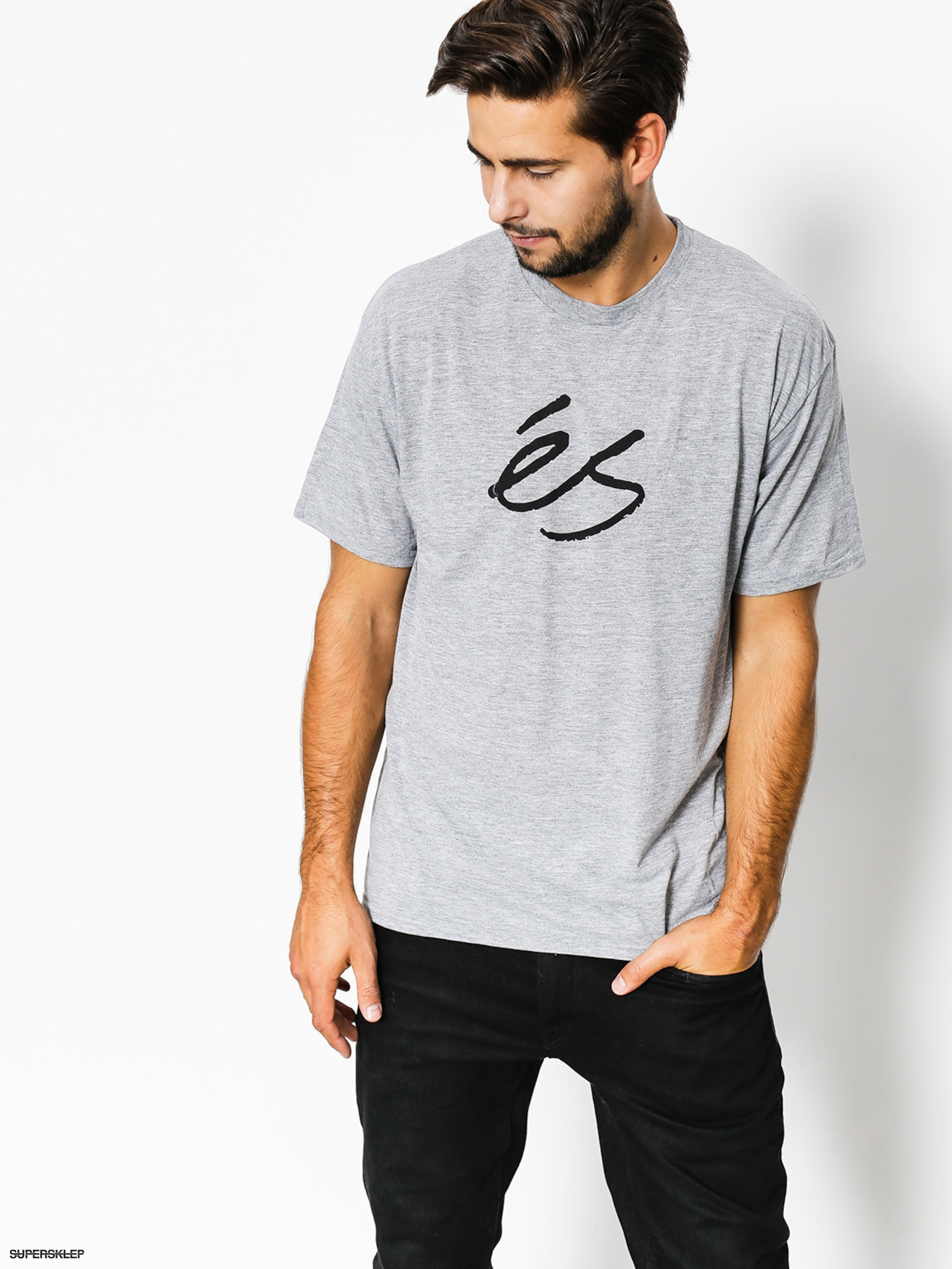 T-shirt Es Mid Script Tech (grey/heather)