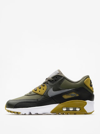 Buty Nike Air Max 90 Leather Gs (cargo khaki/cool grey black sequoia)