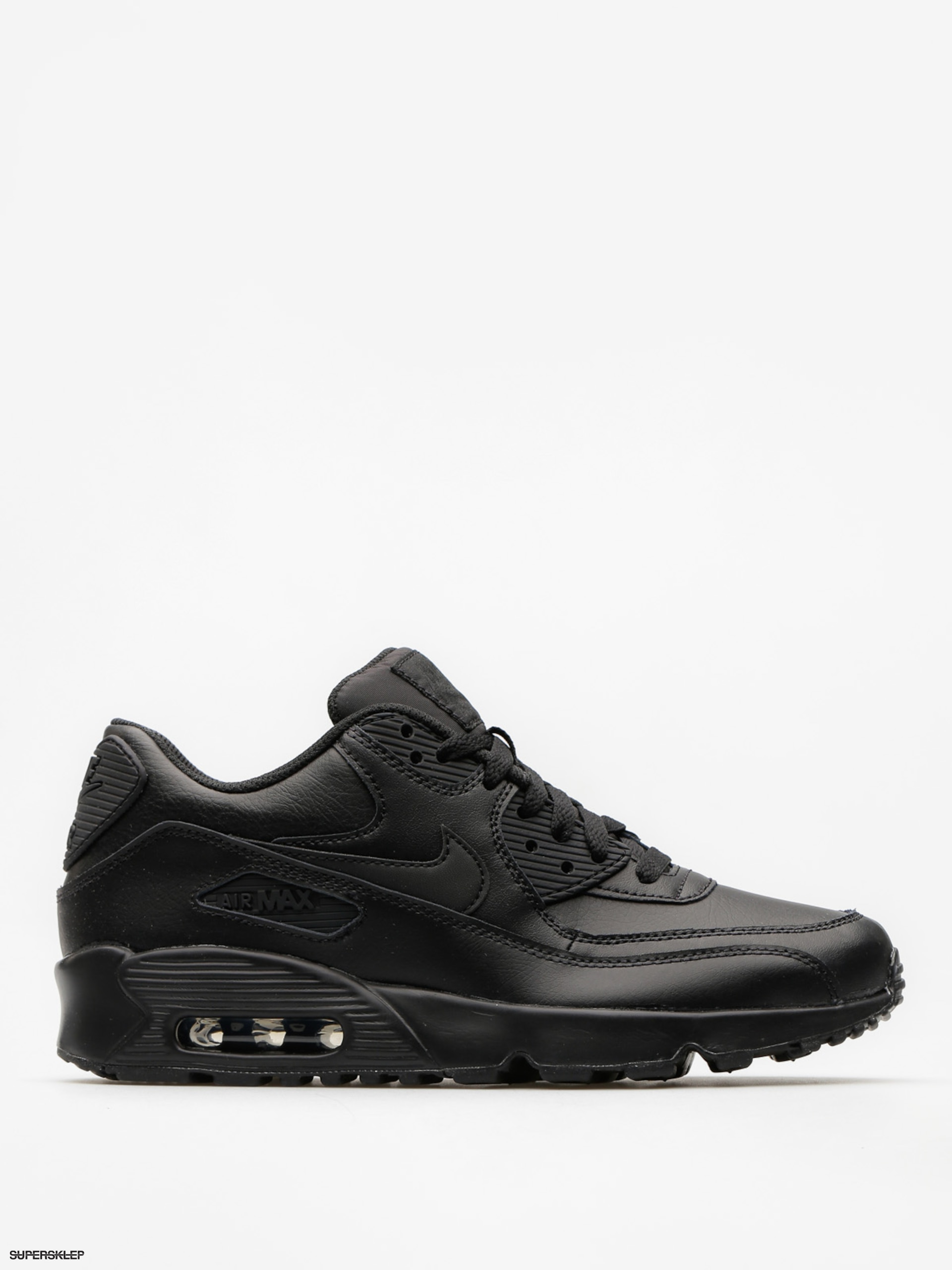 Buty Nike Air Max 90 Leather Gs (black/black)