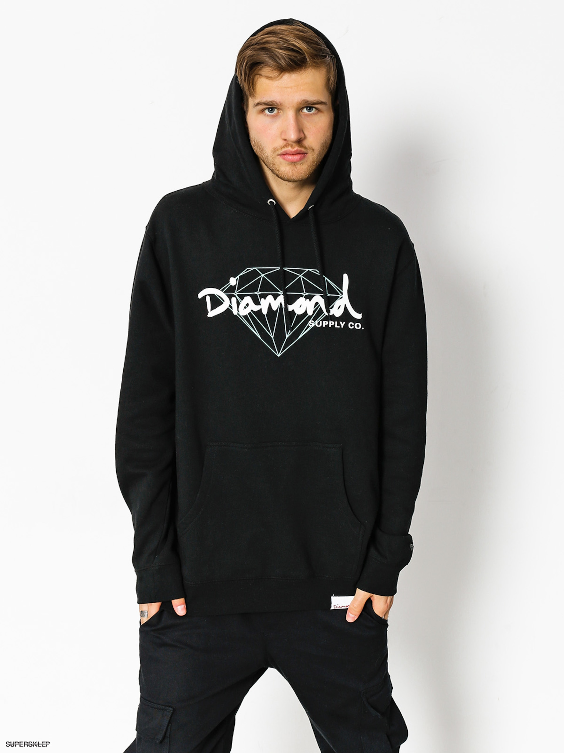Bluza z kapturem Diamond Supply Co. Brilliant Script HD