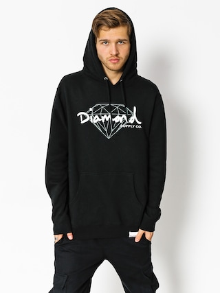 Bluza z kapturem Diamond Supply Co. Brilliant Script HD (black)