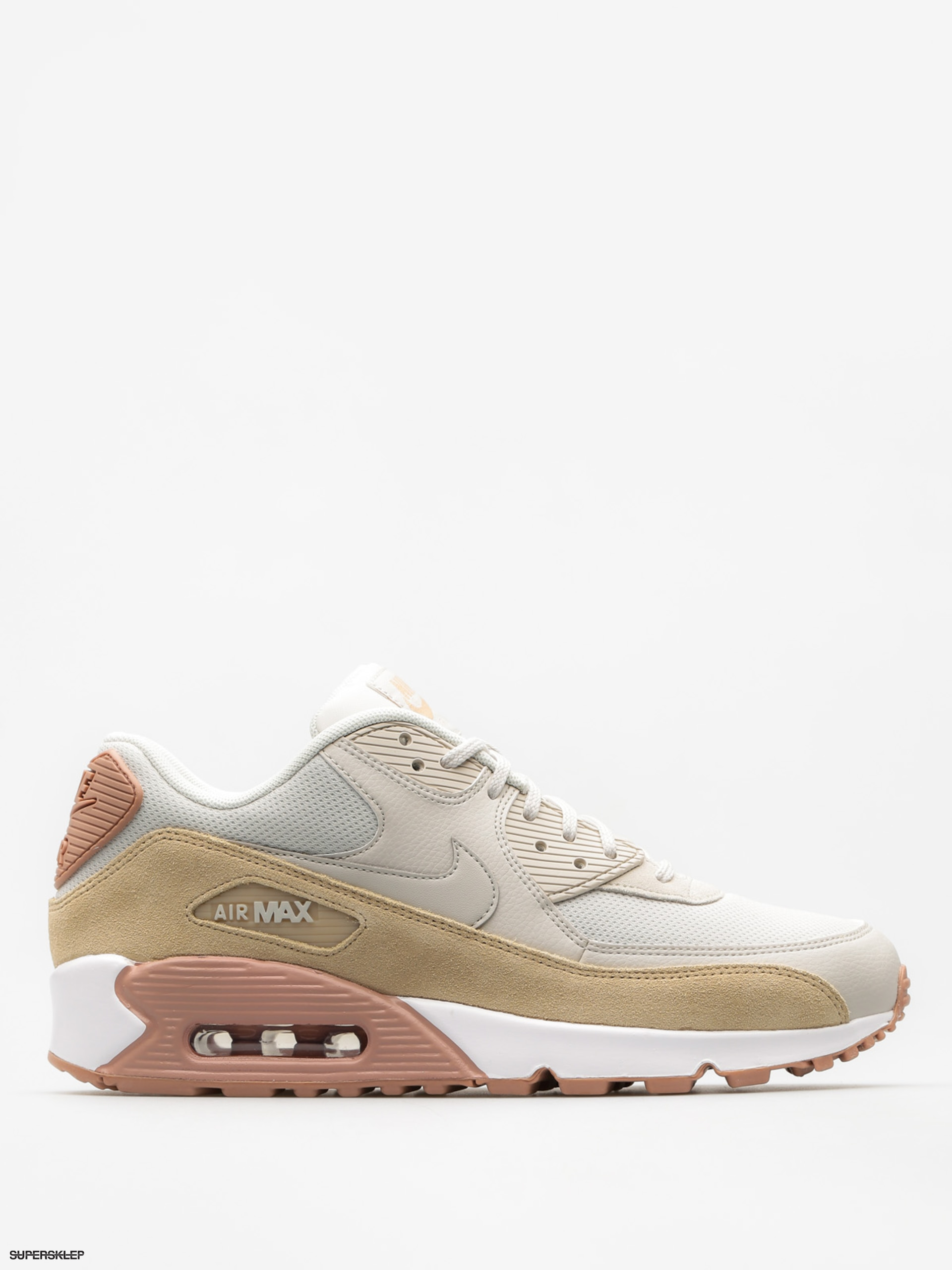 Buty Nike Air Max 90 Wmn (light bone/mushroom particle pink white)