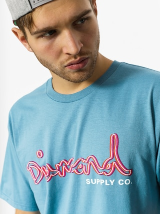 T-shirt Diamond Supply Co. Neon Og Script (slate)
