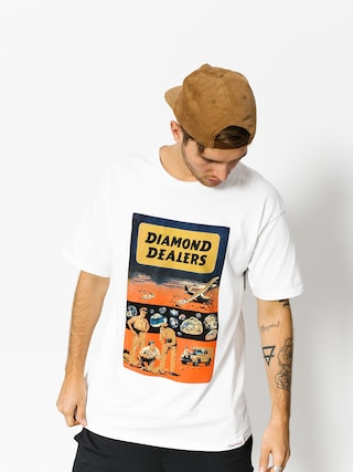 T-shirt Diamond Supply Co. Dealers (white)