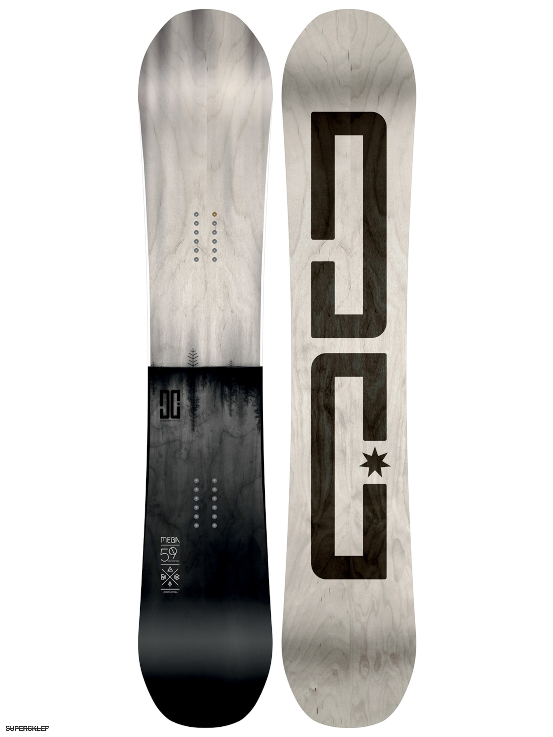 Deska snowboardowa DC Mega (light grey/black)