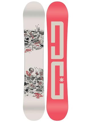Deska snowboardowa DC Pbj (red/creme)