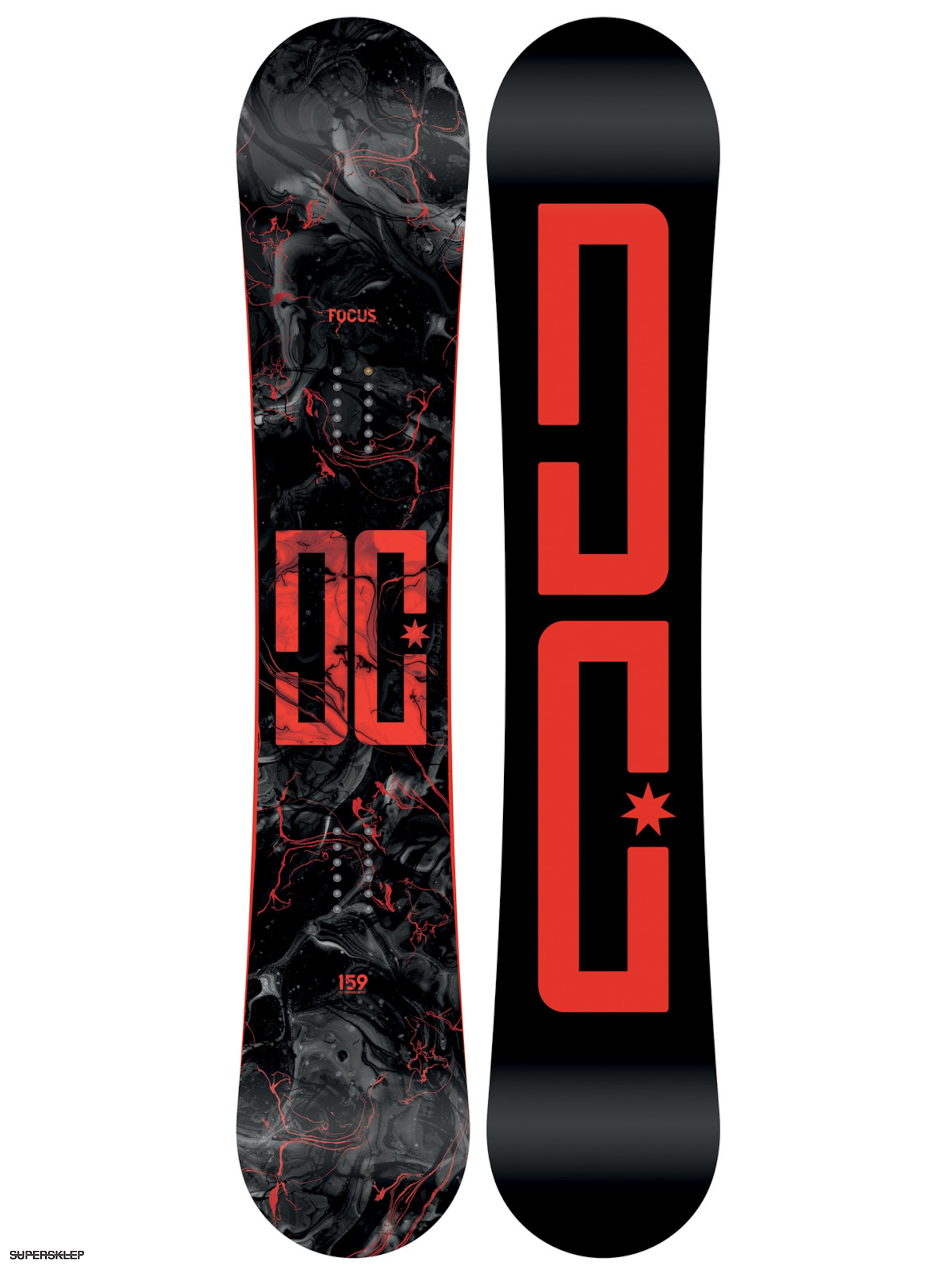 Deska snowboardowa DC Focus (black red) 53a2ce3620