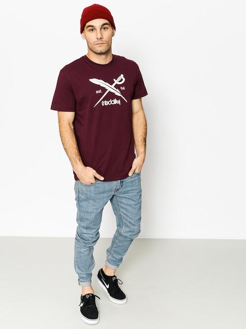T-shirt Iriedaily Daily Flag (maroon mel)