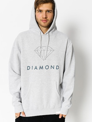 Bluza z kapturem Diamond Supply Co. Futura Sign HD (heather grey)