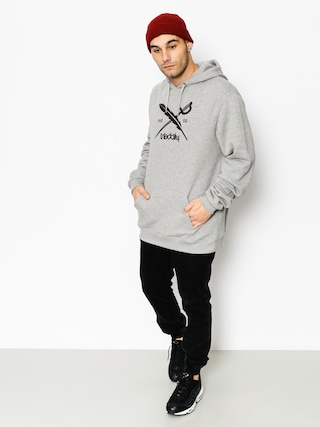 Bluza z kapturem Iriedaily Daily Flag HD (grey)