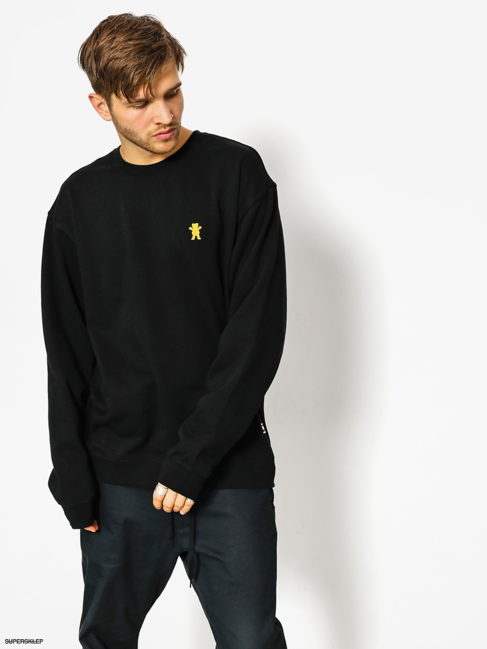Bluza Grizzly Griptape Og Bear Embroidered Crewneck