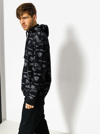 Bluza z kapturem Grizzly Griptape Front Runner Pull Over HD (black)