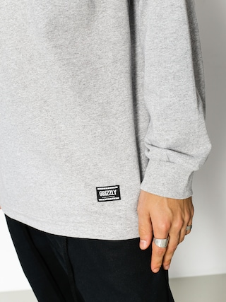 Longsleeve Grizzly Griptape Headlines (heather black)