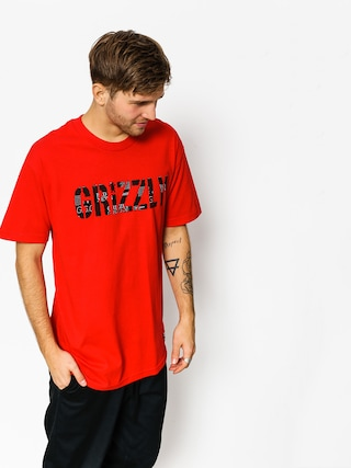 T-shirt Grizzly Griptape Headlines (red)